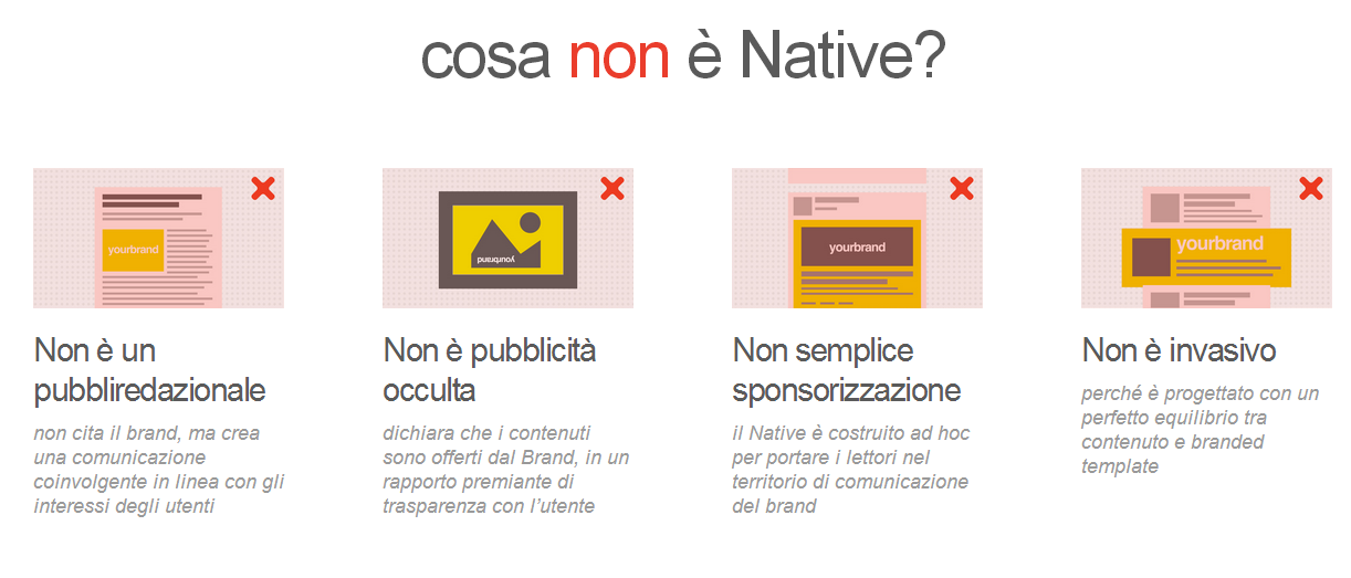 cosa non è la native advertising