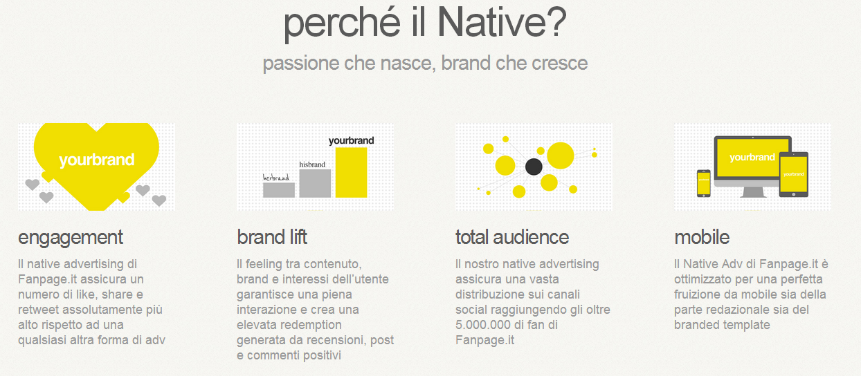 perchè native advertising
