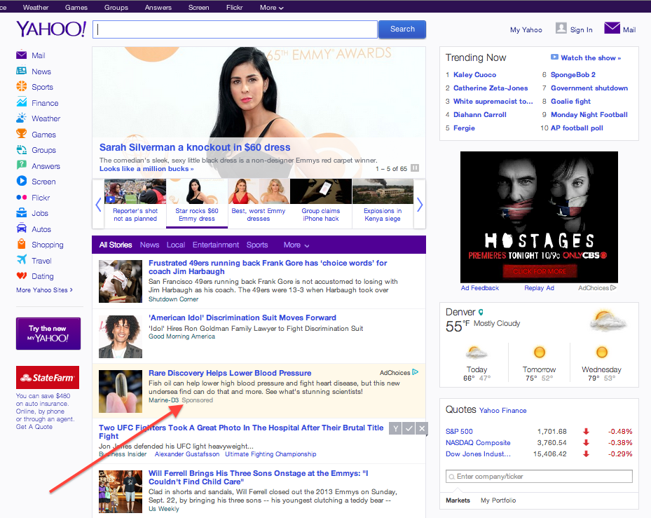 yahoo native advertising